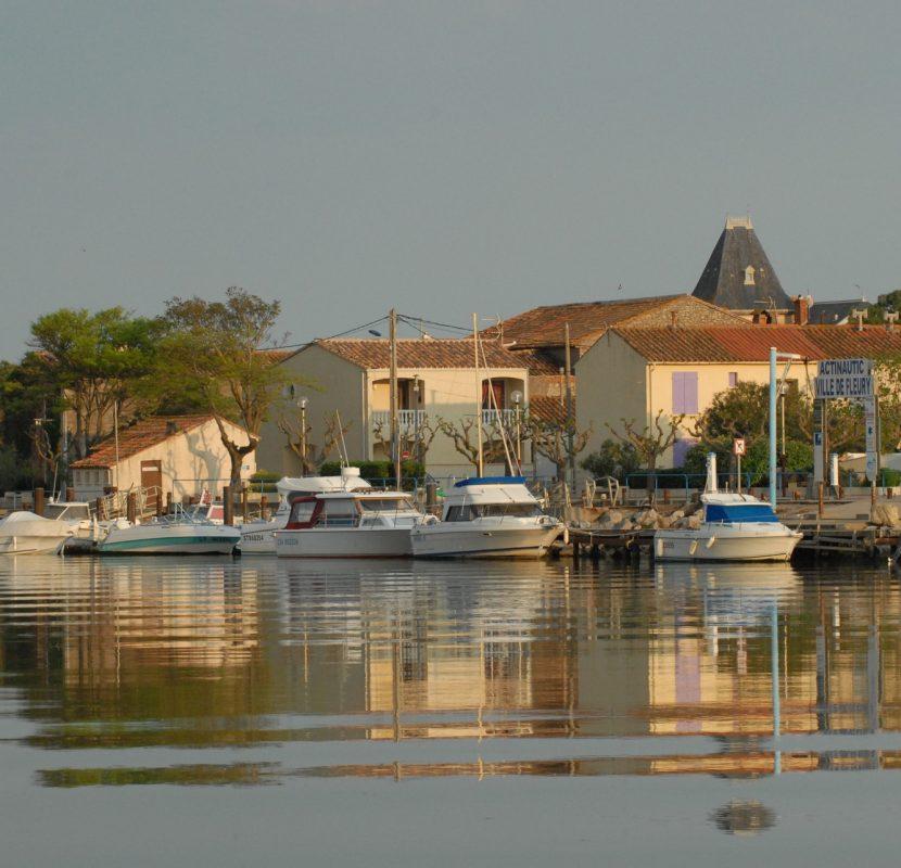 Les cabanes de Fleury et son port ©Office de Tourisme du Grand Narbonne