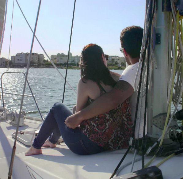 Gruissan, bateau, vue sur le port