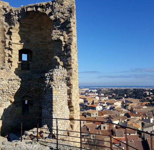 Vue sur le village de Gruissan depuis la Tour Barberousse ©ADT de l'Aude