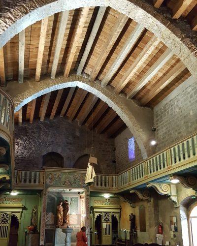 Plafond en coque de bateau de l'église de Gruissan©S. Alibeu, ADT Aude