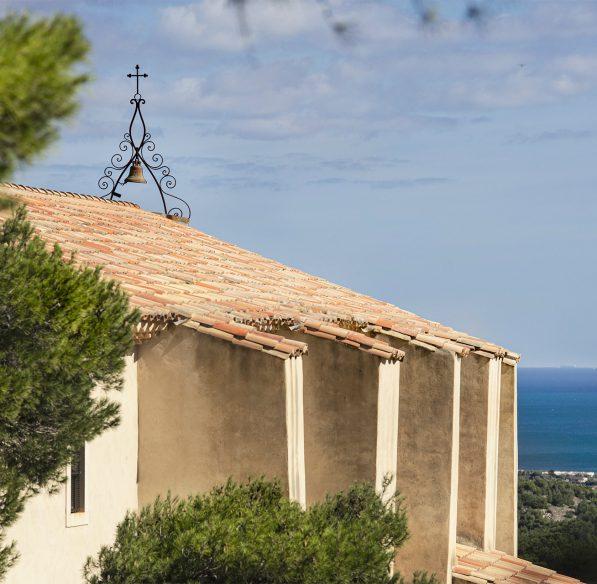 Vue sur la mer Méditerranée depuis la chapelle Notre Dame des Auzils à Gruissan ©Idriss Bigou-Gilles - ADT de l'Aude