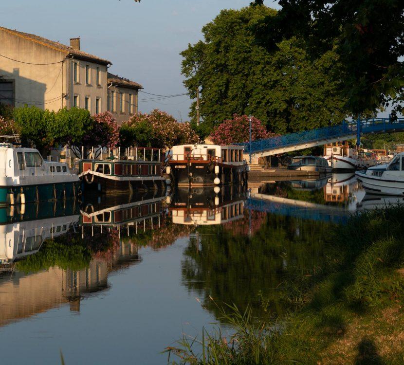 le port de Homps sur le canal du Midi © Jean del Arco Aguirre, Fédération de pêche de l'Aude
