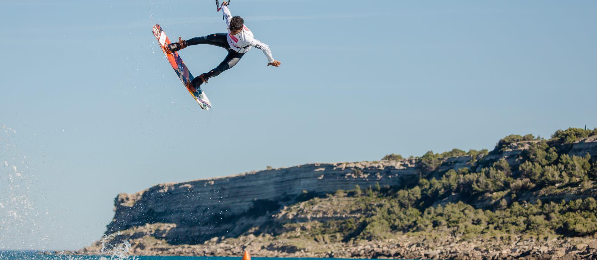 Kitesurfer à Leucate-la franqui