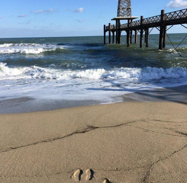 Leucate, plage, ponton