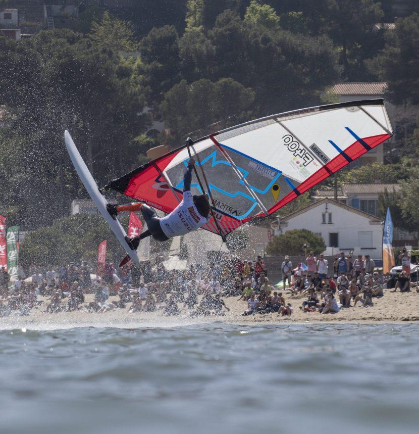 Freestyle au Mondial du vent à Leucate