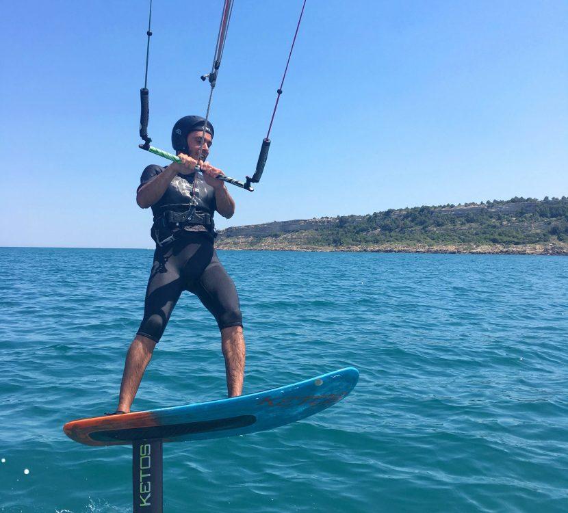 Pratique du Kite-surf à Leucate ©Office de tourisme de Leucate