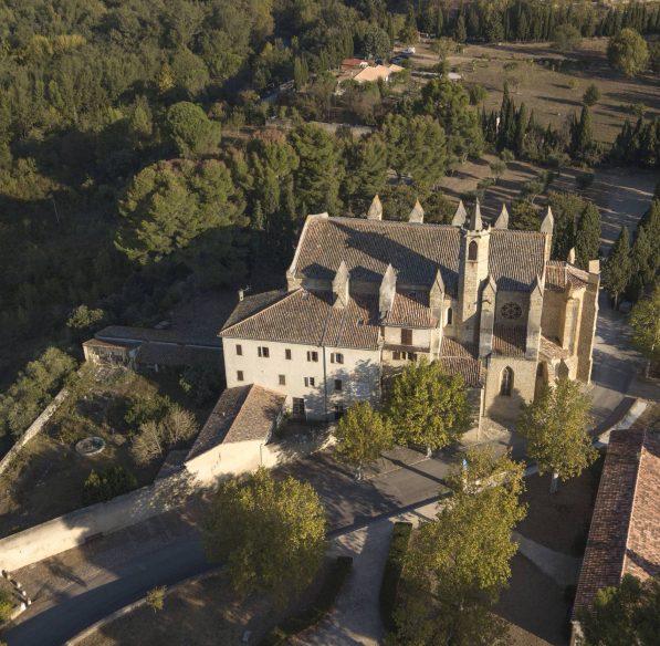 Limoux, Notre Dame de Marceille, vue du ciel