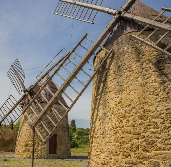 Moulins en Lauragais au Mas Saintes Puelles © Office de Tourisme Castelnaudary Lauragais