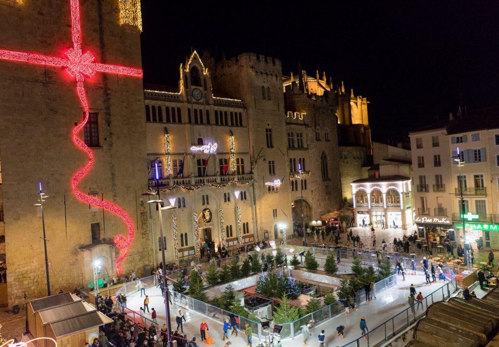 Féeries de Noël à Narbonne, patinoire