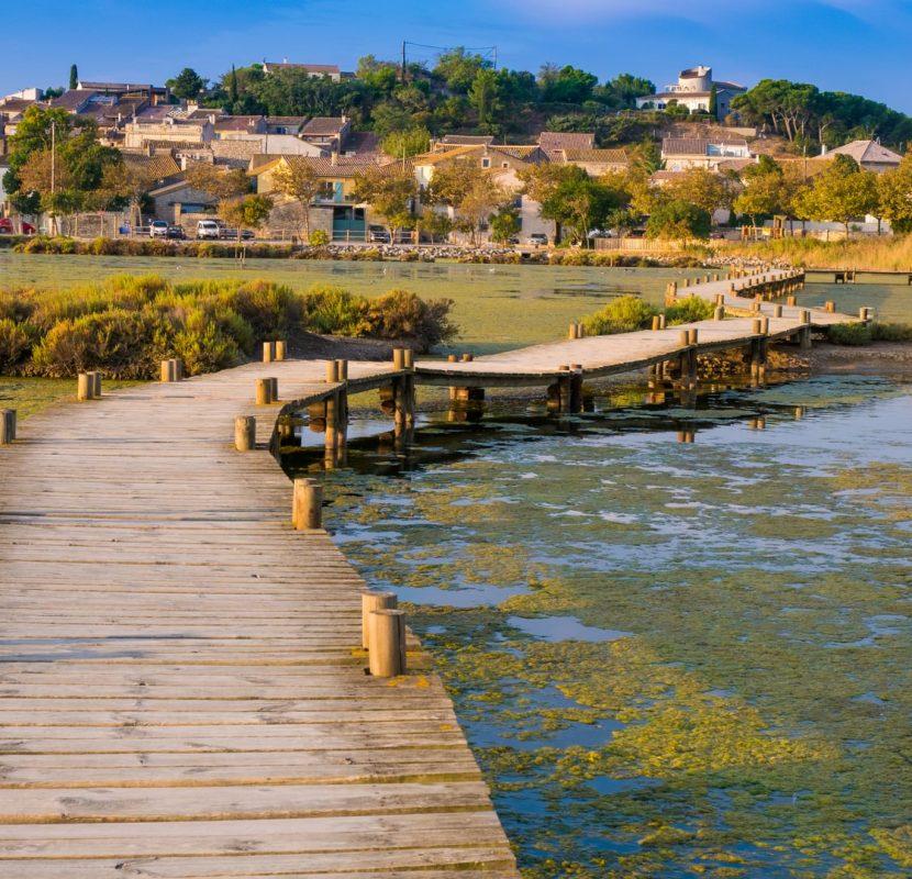 Balade le long de l'étang de Bages à Peyriac de Mer ©Pierre Davy-ADT de l'Aude