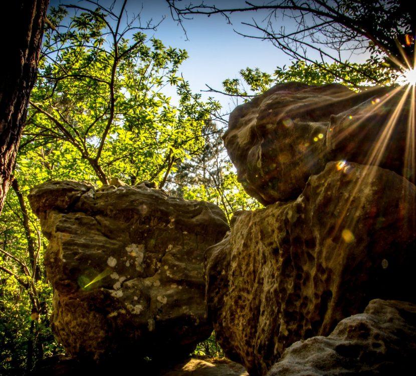 Les roches tremblantes à Rennes-les-Bains ©Thomas Sananes - ADT de l'Aude