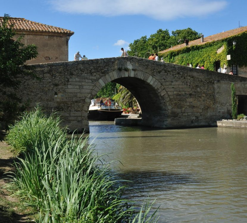 le Somail , sur le canal du Midi © J. Belondrade, OT Grand Narbonne Tourisme