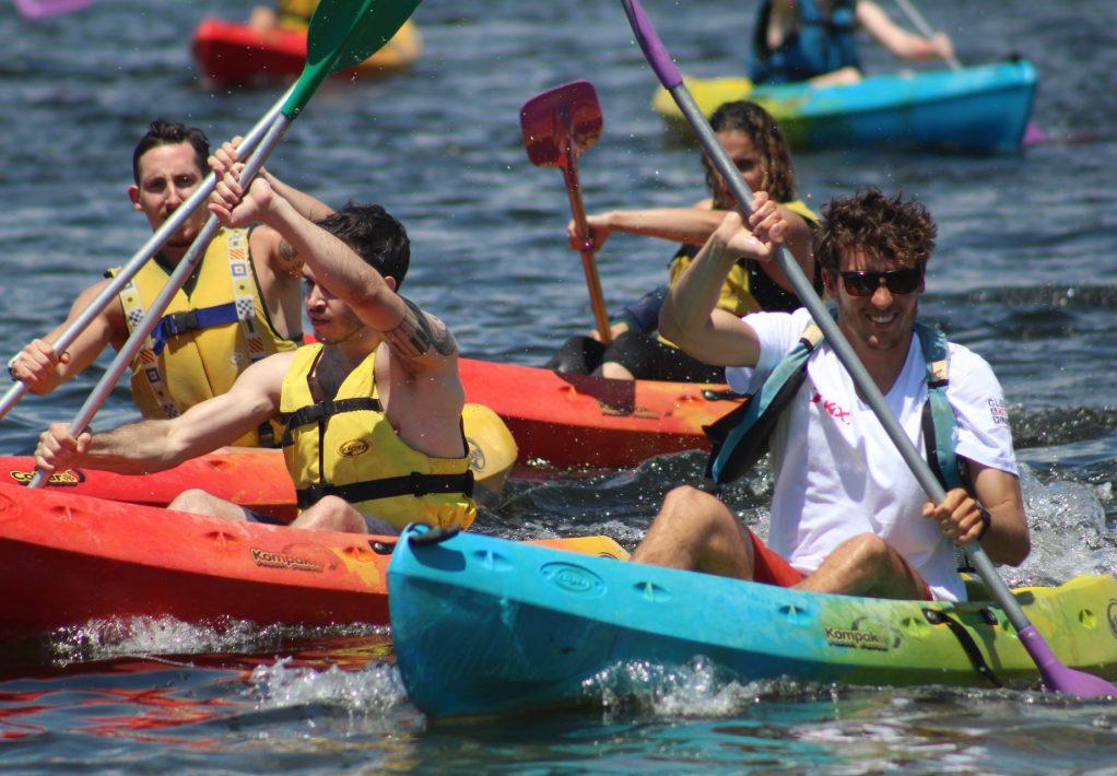 Kayak en famille sur l'étang de Pissevache @Glisse & Kite
