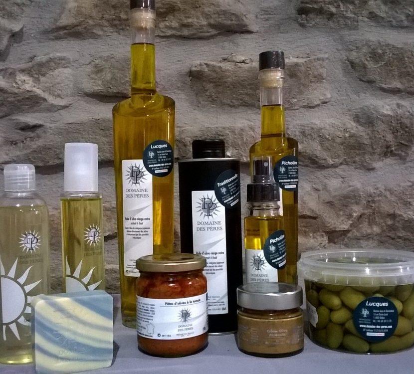 Productions à base d'olives du Domaine des Pères, à Trèbes © OT Grand Carcassonne