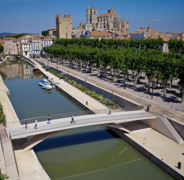 Vue sur le Canal de la Robine à Narbonne ©Mairie de Narbonne